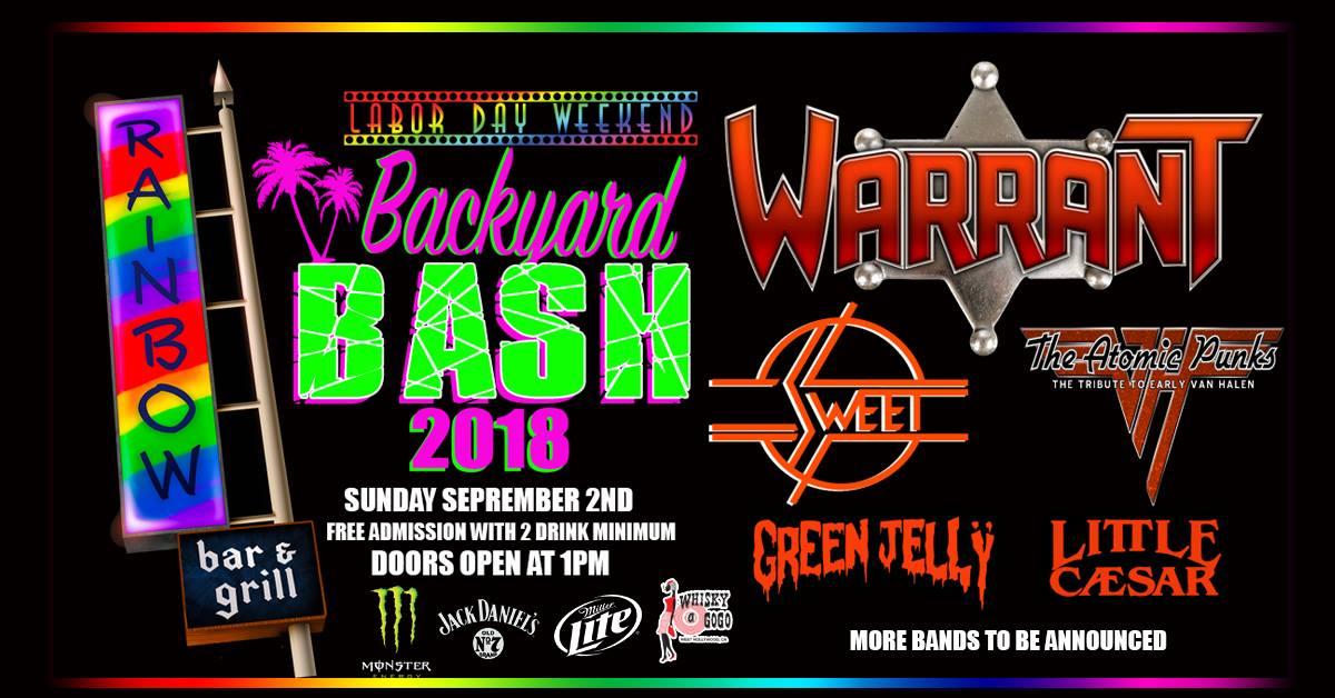 Rainbow Bar Grill Backyard Bash The Atomic Punks The Tribute